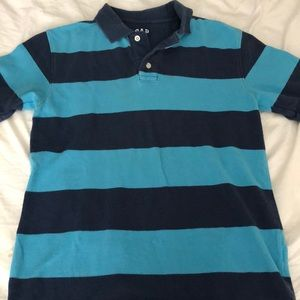 GAP Shirts & Tops - Boys blue striped gap kids rugby polo shirt